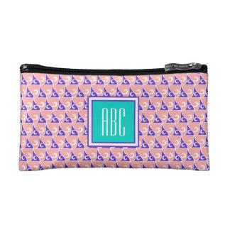 De Kosmetische Zak van het Monogram van de Druk Make-up Bag