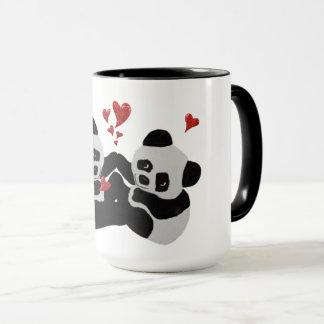 De kostbare Harten van de Panda Mok