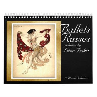 De kostuums van Russes van balletten door Bakst - Kalender