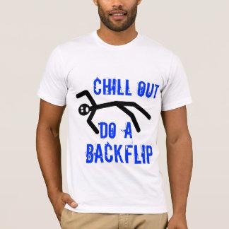 De kou uit, doet een backflip t shirt