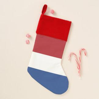 De Kousen van Kerstmis met Vlag van Nederland Kerstsok