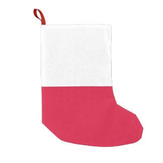 De Kousen van Kerstmis met Vlag van Polen Kleine Kerstsok