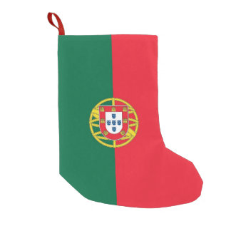 De Kousen van Kerstmis met Vlag van Portugal Kleine Kerstsok