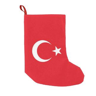 De Kousen van Kerstmis met Vlag van Turkije Kleine Kerstsok