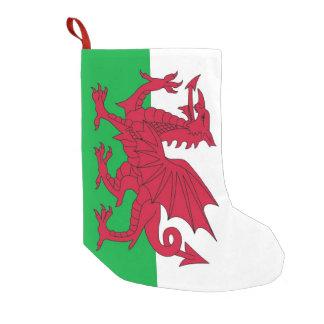 De Kousen van Kerstmis met Vlag van Wales Kleine Kerstsok