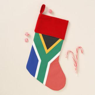 De Kousen van Kerstmis met Vlag van Zuid-Afrika Kerstsok
