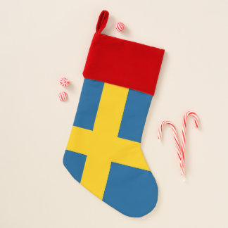 De Kousen van Kerstmis met Vlag van Zweden Kerstsok
