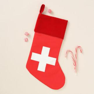 De Kousen van Kerstmis met Vlag van Zwitserland Kerstsok