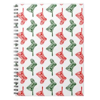 De Kousen van Kerstmis van Paisley Ringband Notitieboek