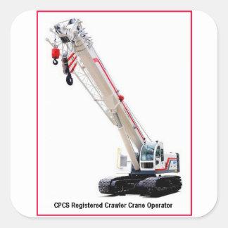 De Kraanmachinist van het Kruippakje CPCS Vierkante Sticker