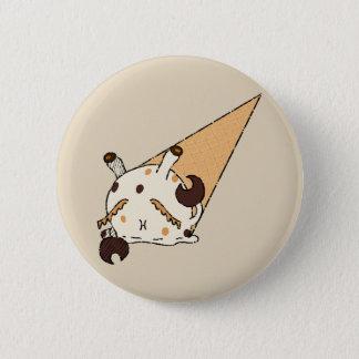 De Krab van het Roomijs van de pindakaas Ronde Button 5,7 Cm