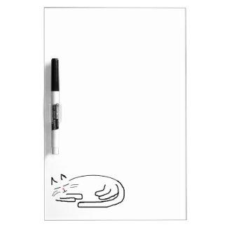 De Krabbel van de Kat van de slaap Whiteboard