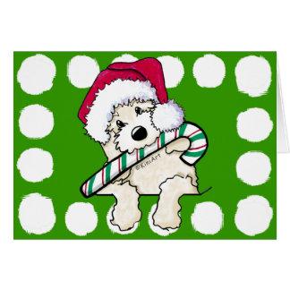 De Krabbel van de Kerstman van de zak met Kaart