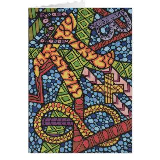 De Krabbel van Geek van wiskunde Briefkaarten 0