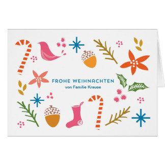 De Krabbels frohe Weihnachten Karten van Festliche Kaart