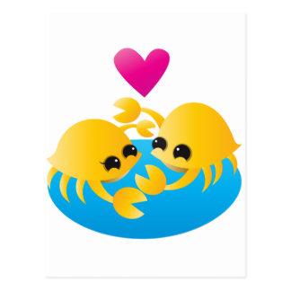 De Krabben van de liefde Briefkaart