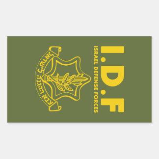 De Krachten van de Defensie van IDF Israël - ENG Rechthoekige Sticker