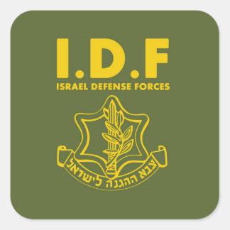 De Krachten van de Defensie van IDF Israël - ENG Vierkante Sticker