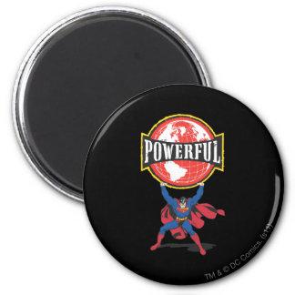 De krachtige Superman van de Wereld Ronde Magneet 5,7 Cm