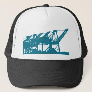 De Kranen van Harbror van de haven in Blauw Pet