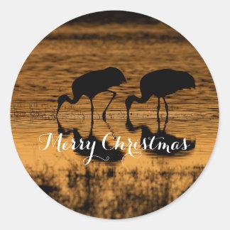De Kranen van Sandhill, Vrolijke Kerstmis Ronde Sticker