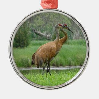 De Kranen van Sandhill Zilverkleurig Rond Ornament