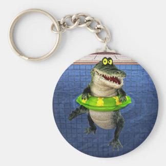 De Krokodil van de cartoon in het Diepe Eind Sleutelhanger