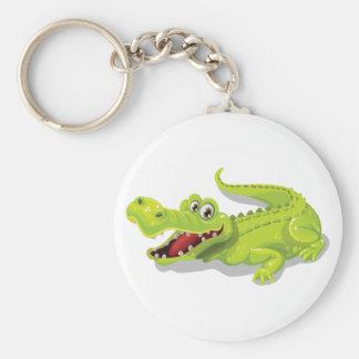 De Krokodil van de cartoon Sleutelhanger