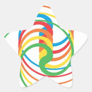 De Krommen van de kleur: De Sticker van de ster