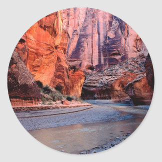De Kromming Paria van de Rivier van de canion Ronde Sticker