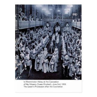 De kroning van H.M. Koningin Elizabeth Briefkaart