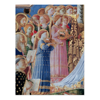 De kroning van Virgin Briefkaart