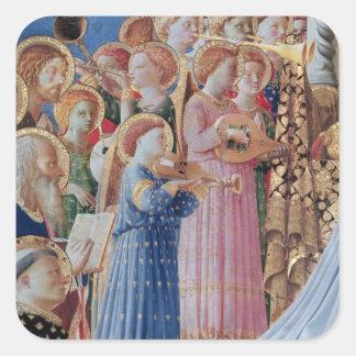 De kroning van Virgin Vierkante Sticker