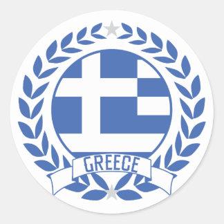 De Kroon van Griekenland Ronde Sticker