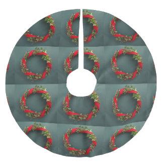 De kroon van Kerstmis met fluweellint Kerstboom Rok