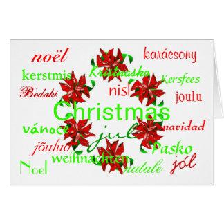 """De """"kroon van Kerstmis rond Wereld I"""" Kaart"""