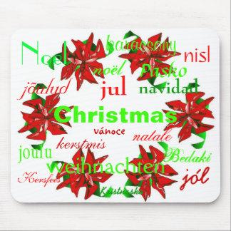 """De """"kroon van Kerstmis rond Wereld I"""" Mousepad Muismatten"""