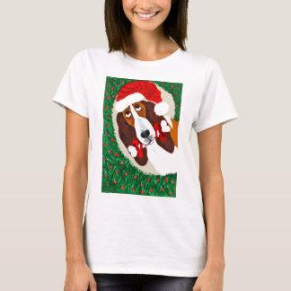De Kroon van Kerstmis van Basset Hound T Shirt