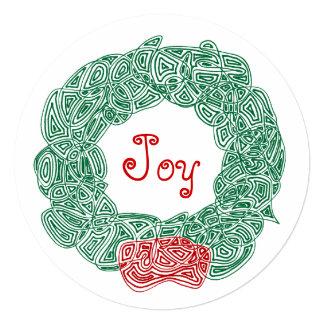 De Kroon van Kerstmis van de vreugde Uitnodigingen