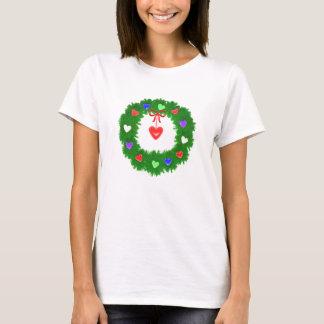 De Kroon van Kerstmis van Harten T Shirt