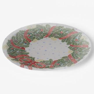 De kroondocument van Kerstmis bord