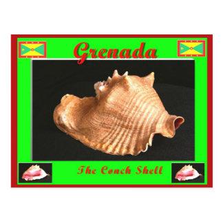 De kroonslak Shell Briefkaart