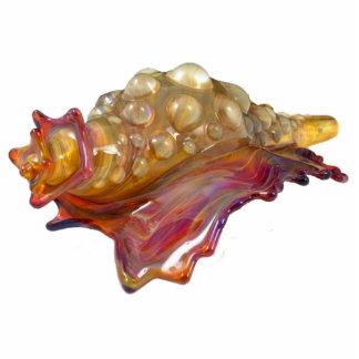 De Kroonslak Shell Keychain van het glas Fotobeeldje Sleutelhanger