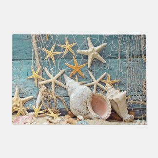 De Kroonslak Shell van Themed van het strand, Deurmat