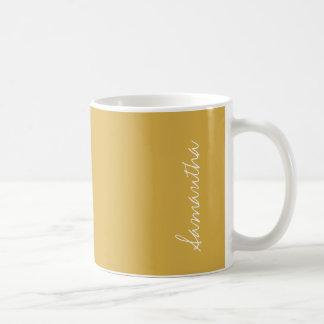 De kruidige Gele Gouden Stevige Kleur van de Koffiemok