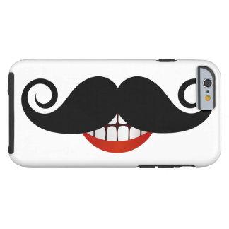 De krullende Glimlach van de Snor en van de Pret Tough iPhone 6 Hoesje