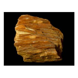 De kuif Minerale Foto van het Bariet op Zwarte Briefkaart