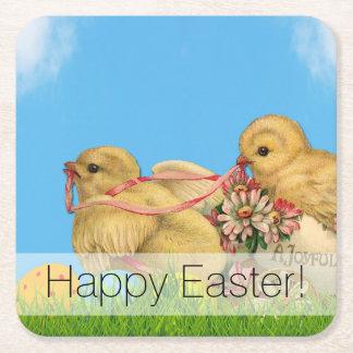 De Kuikens van Pasen van de lente Vierkante Onderzetter