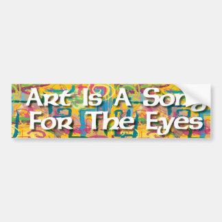 De kunst is een Lied voor de Sticker van Ogen