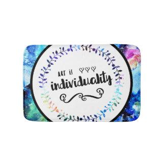De kunst is Individualiteit Badmat